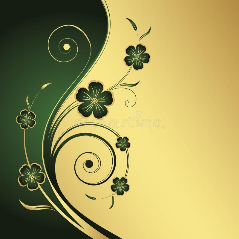 花卉抽象背景 库存例证