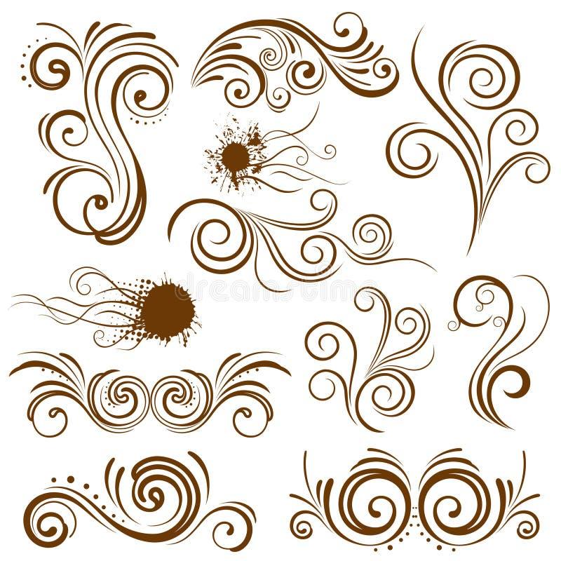 花卉抽象设计要素 皇族释放例证