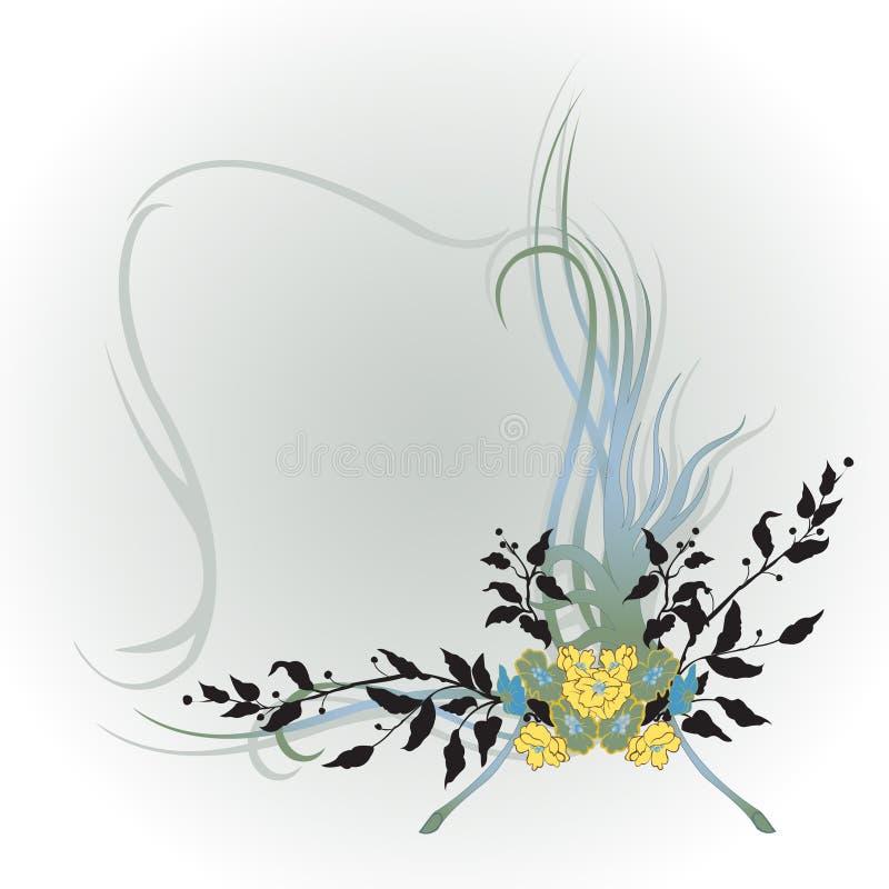 花卉抽象边界 向量例证