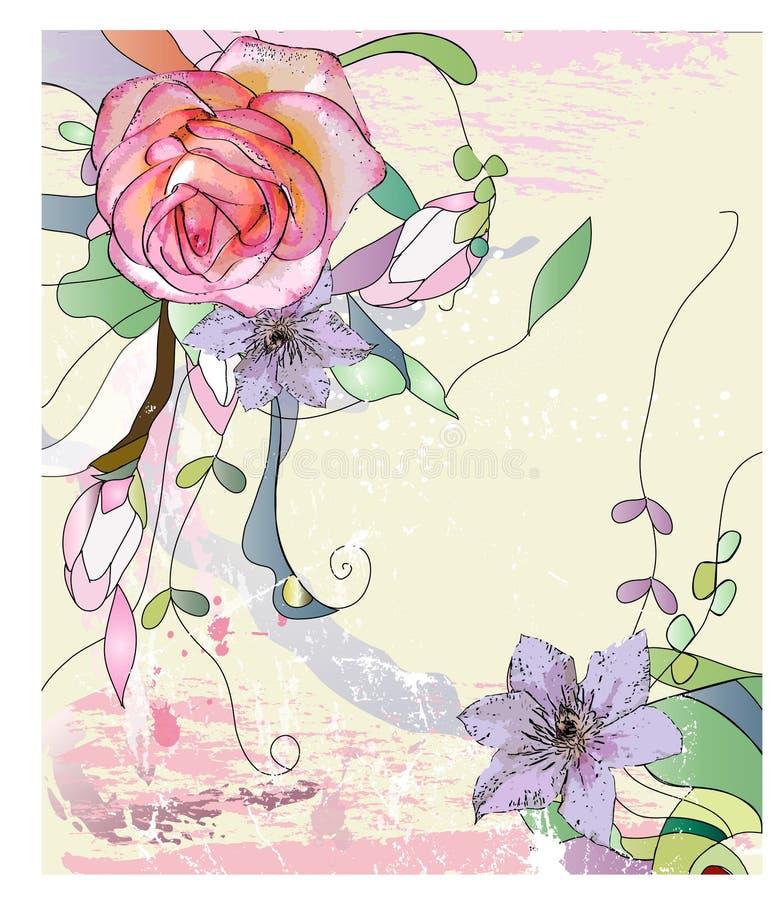 花卉抽象 皇族释放例证