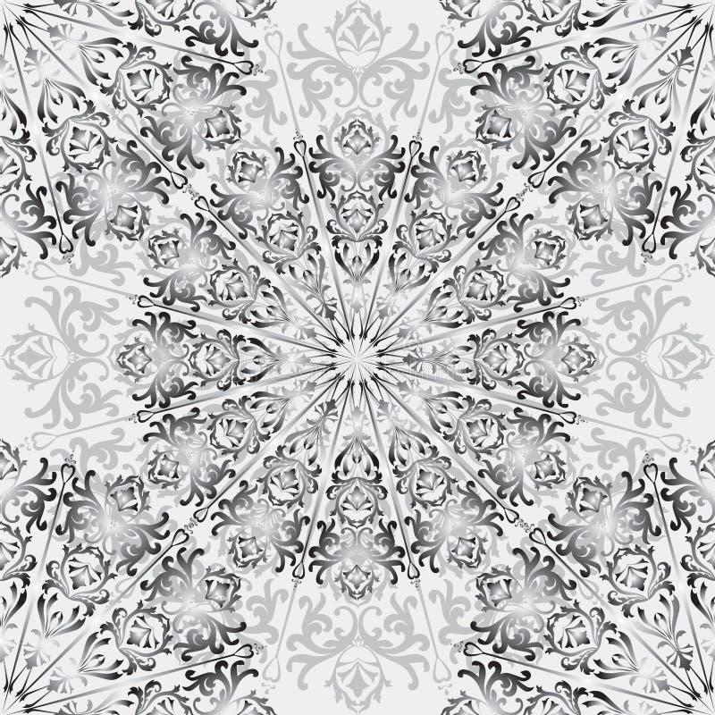 花卉方形的样式 中国装饰抽象背景 皇族释放例证