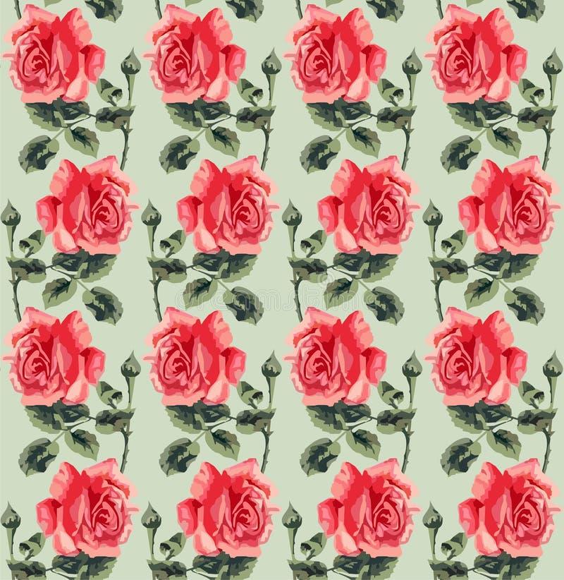 Download 花卉无缝的样式(玫瑰) 向量例证. 插画 包括有 抽象, 开花, 花卉, 框架, 布料, 装饰品, 叶子 - 30328221