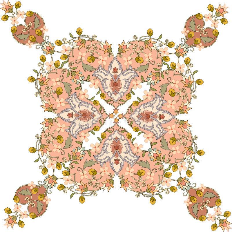 花卉无缝的样式 库存例证