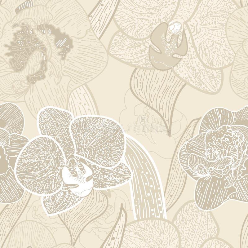 花卉无缝的纹理 皇族释放例证