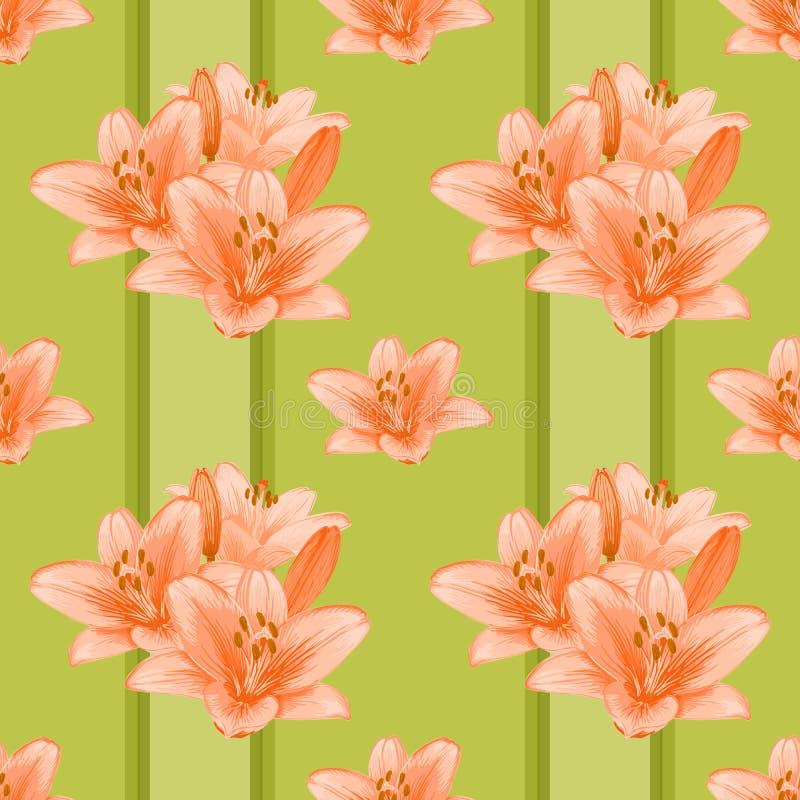 花卉无缝的背景。 库存例证