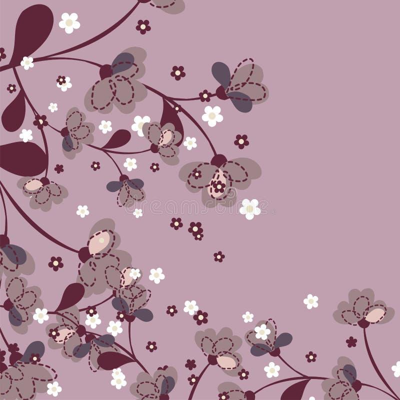 花卉日本模式 库存例证
