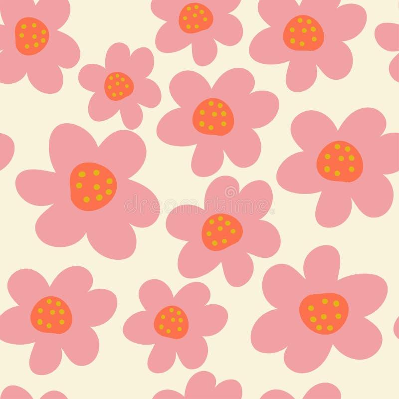 花卉时髦无缝的样式 免版税库存照片