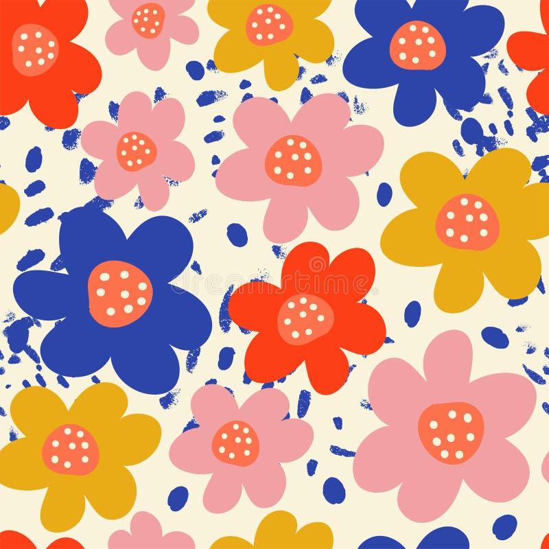 花卉时髦无缝的样式 免版税图库摄影