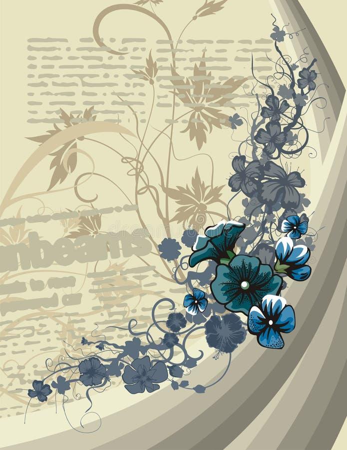 花卉条款背景 向量例证