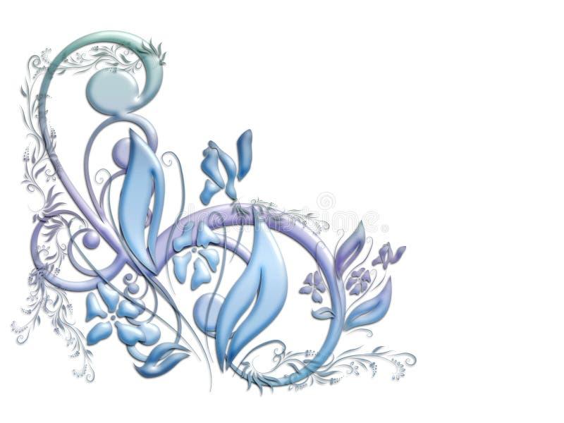 花卉柔和的淡色彩 皇族释放例证