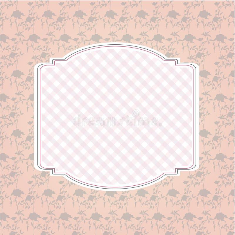花卉样式背景和空的框架 图库摄影