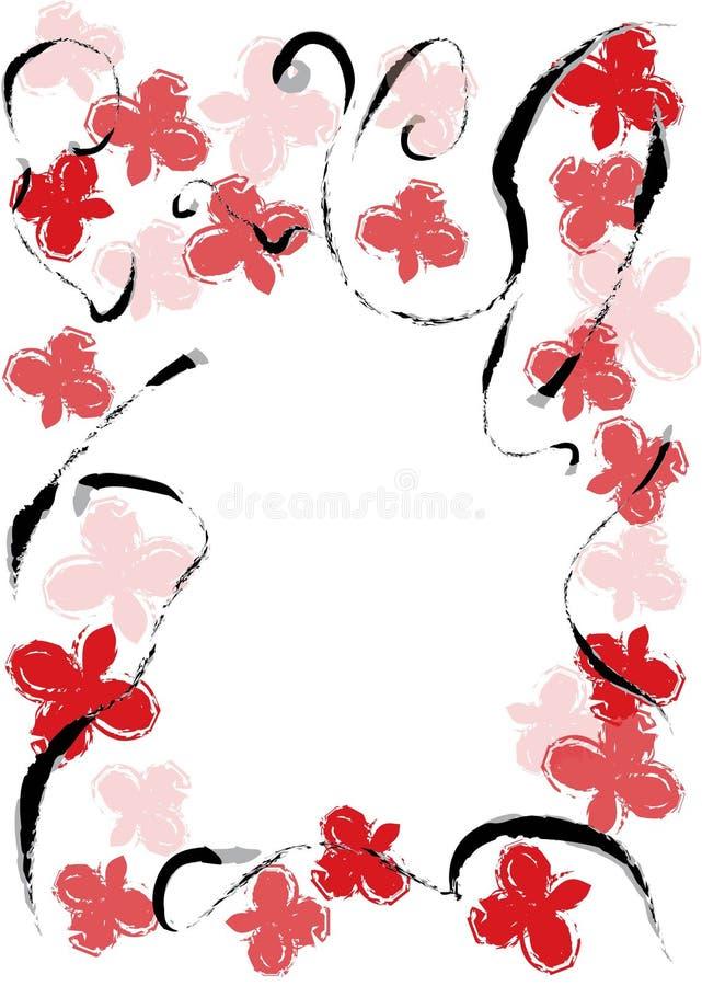 花卉框架向量 库存图片