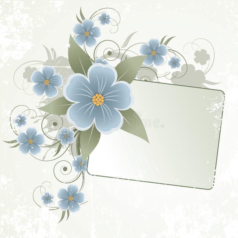 花卉框架文本 库存例证