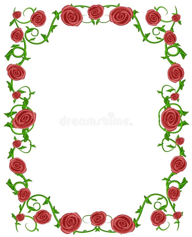 花卉框架照片红色玫瑰 皇族释放例证