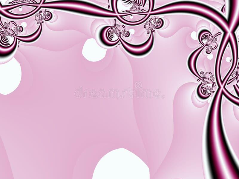 花卉框架粉红色 库存例证