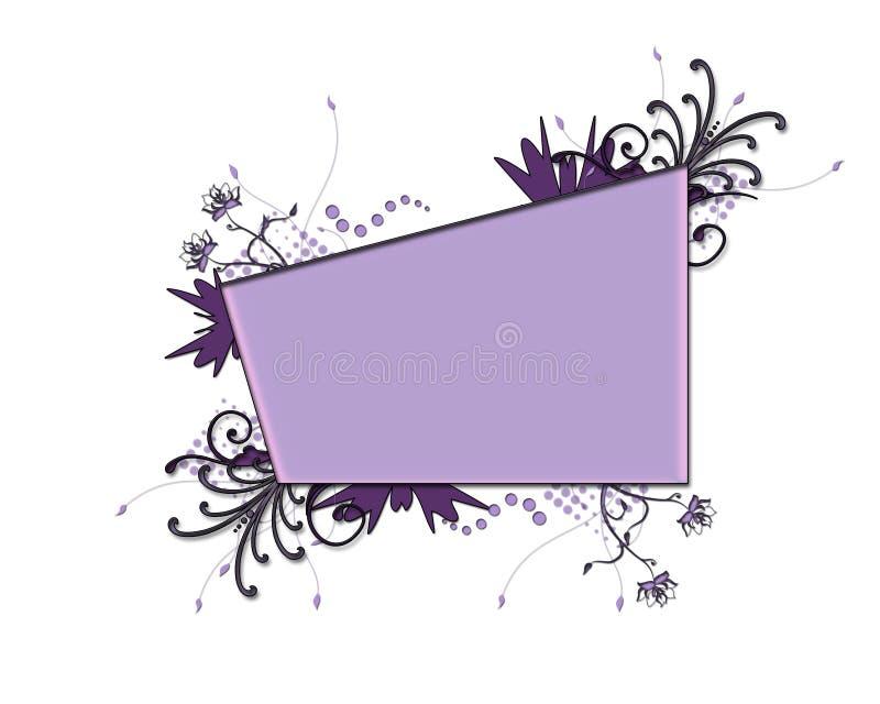 花卉框架紫色 向量例证