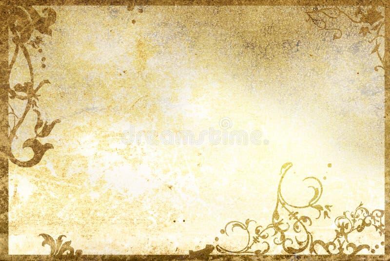 花卉框架老纸样式纹理 图库摄影