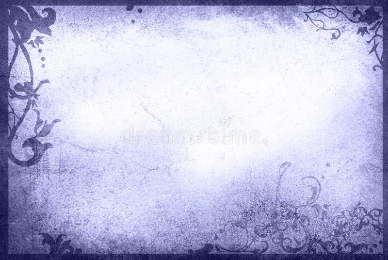 花卉框架老纸样式纹理 皇族释放例证