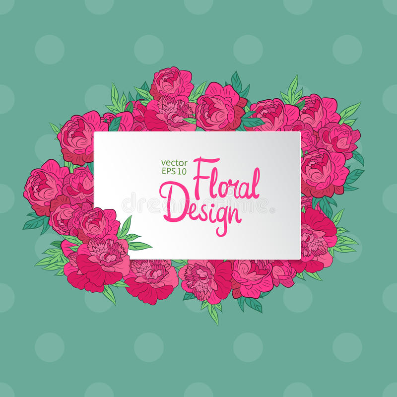 Download 花卉框架葡萄酒 向量例证. 插画 包括有 绽放, 庭院, 红色, 日期, 短上衣, 粉红色, 小点, 明信片 - 72355208