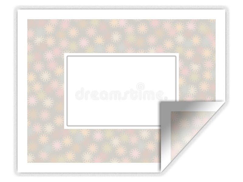 花卉框架说明的模式贴纸 库存例证