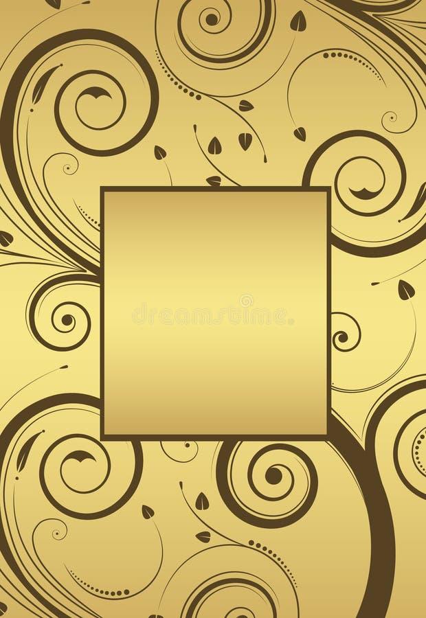 花卉框架金子向量 向量例证