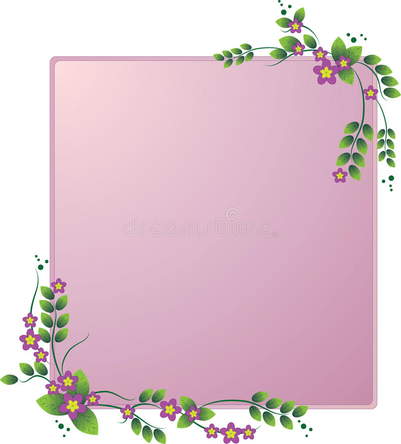 花卉框架 向量例证