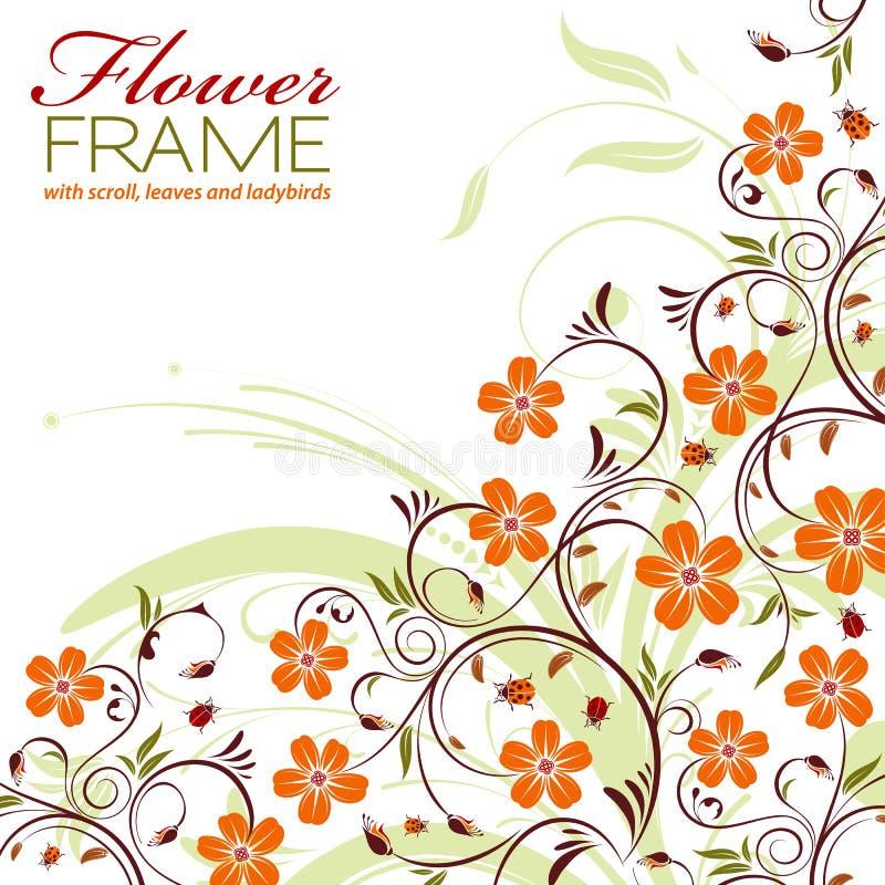 Download 花卉框架 向量例证. 插画 包括有 附庸风雅, 问候, browne, 框架, 绿色, 橙色, 抽象, 卷毛 - 22359056