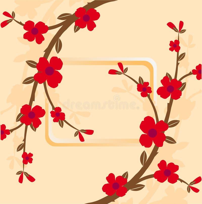 花卉框架 库存例证