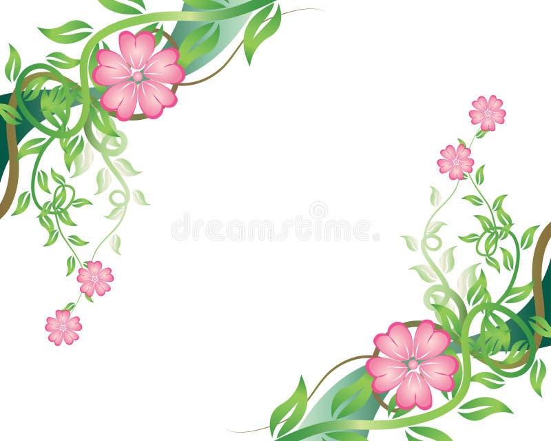 花卉框架 皇族释放例证