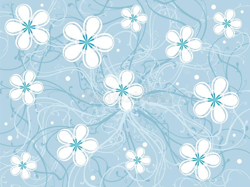 花卉框架grunge 皇族释放例证
