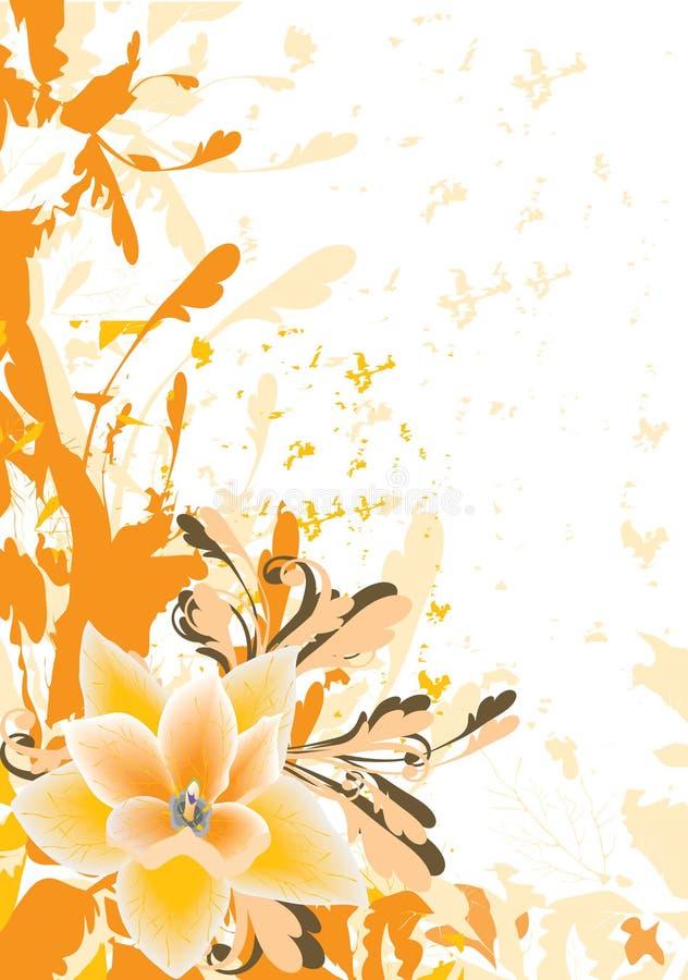 花卉桔子 皇族释放例证