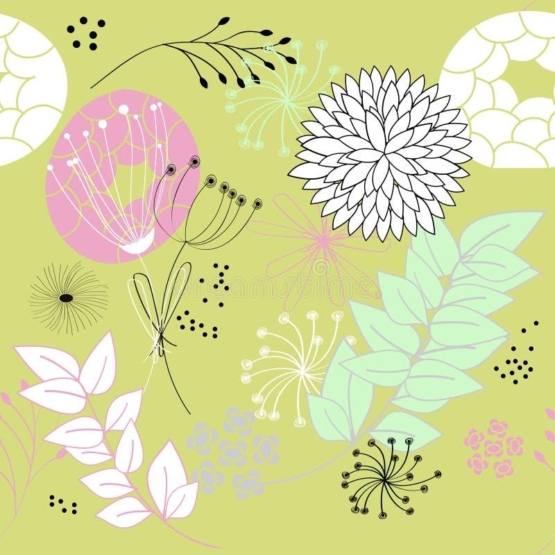 花卉模式无缝时髦 向量例证