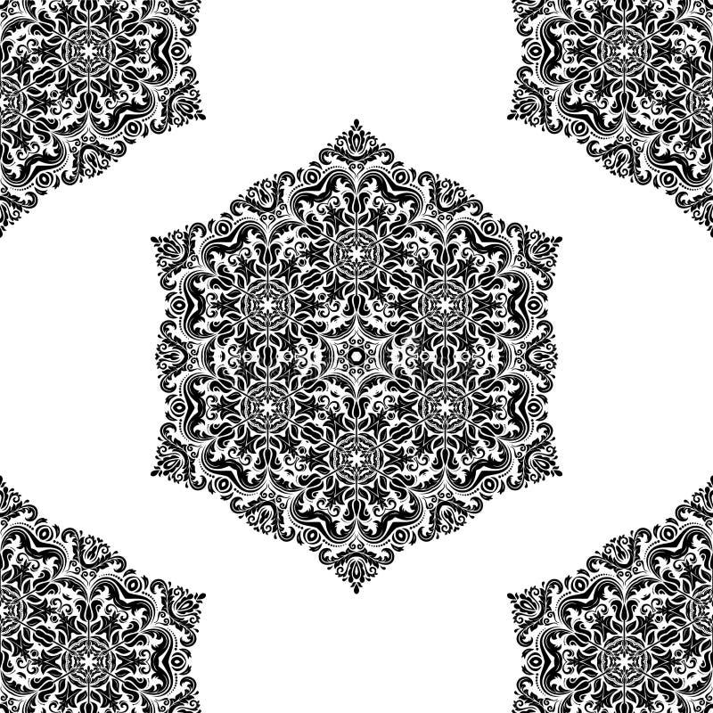 花卉模式无缝的向量 东方摘要 库存例证
