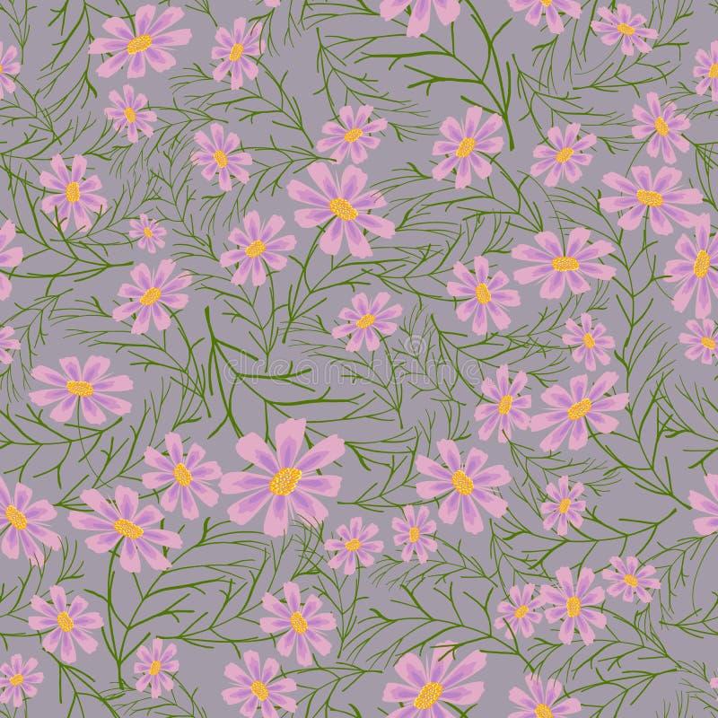 花卉模式无缝的向量 库存照片