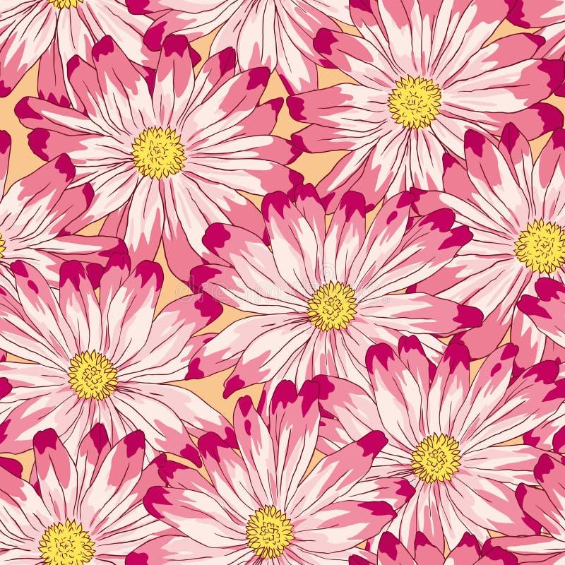 花卉模式无缝的向量 库存例证