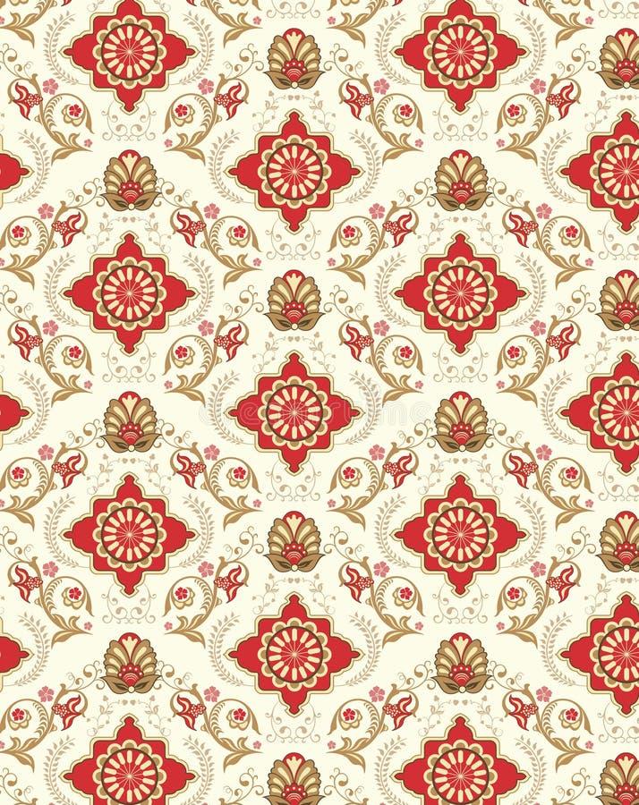 花卉模式无缝的墙纸 皇族释放例证
