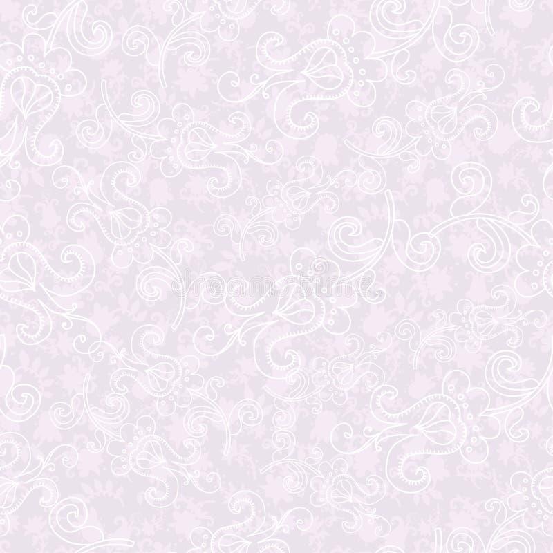 花卉模式无缝的招标 皇族释放例证