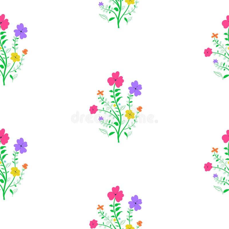 花卉模式无缝的春天 皇族释放例证