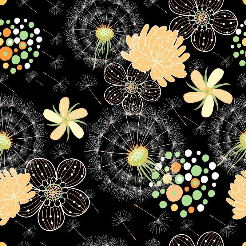 花卉模式浪漫夏天 皇族释放例证