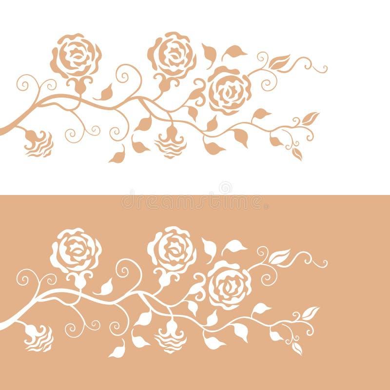 花卉模式玫瑰 向量例证