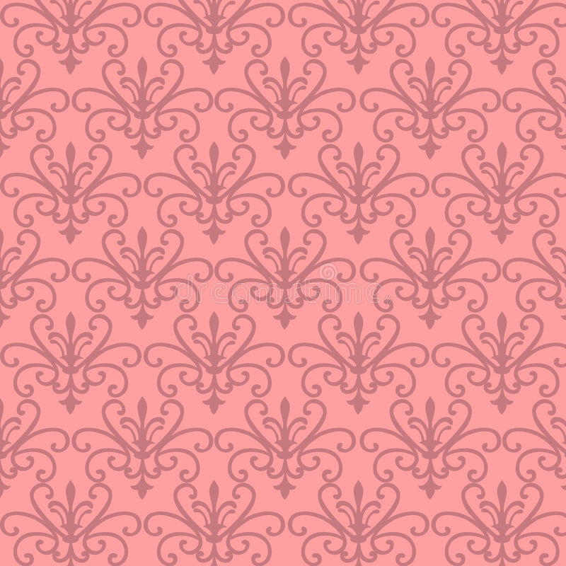 花卉模式粉红色 库存例证