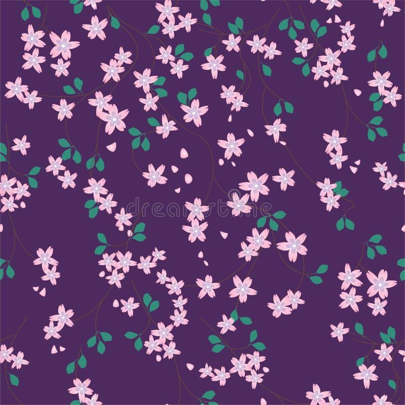 花卉模式紫罗兰 库存例证