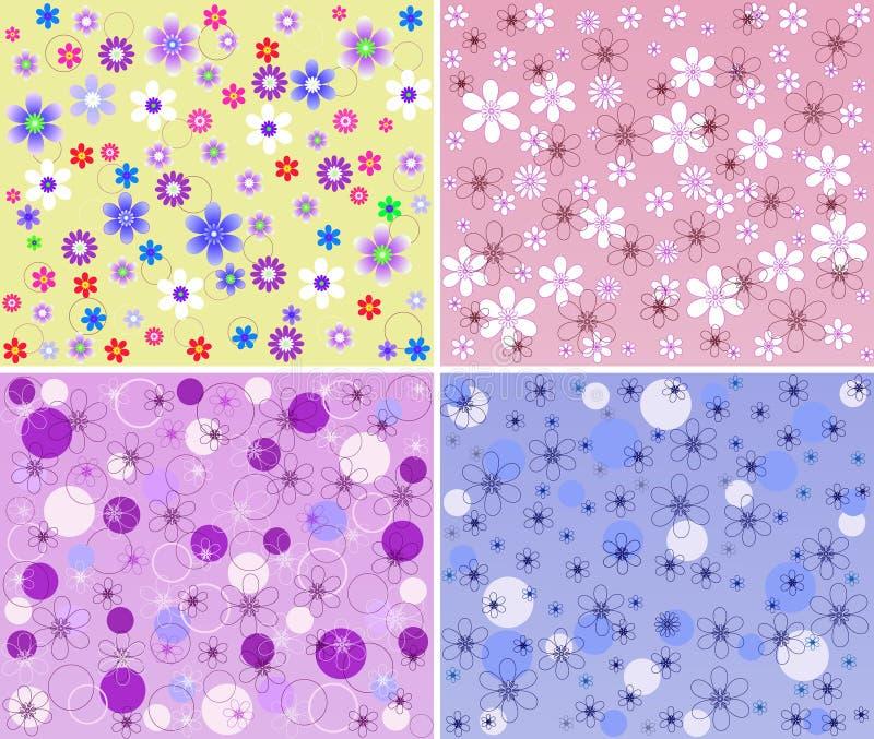 花卉模式集 向量例证
