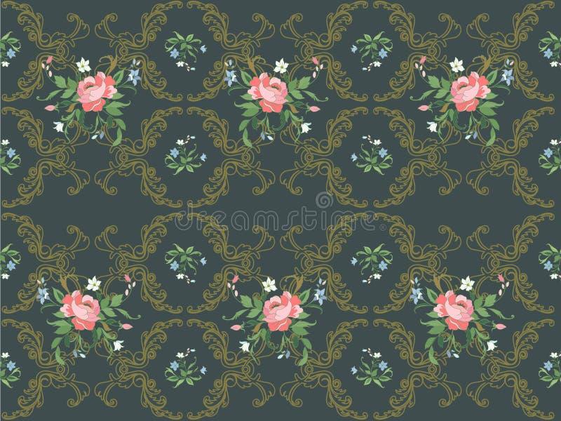 花卉模式 库存例证