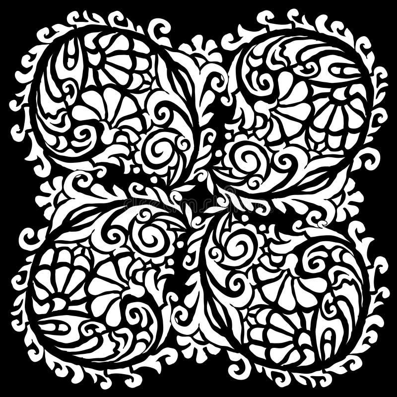 花卉模式 皇族释放例证