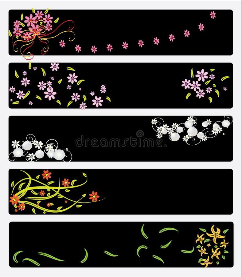 花卉横幅 库存例证