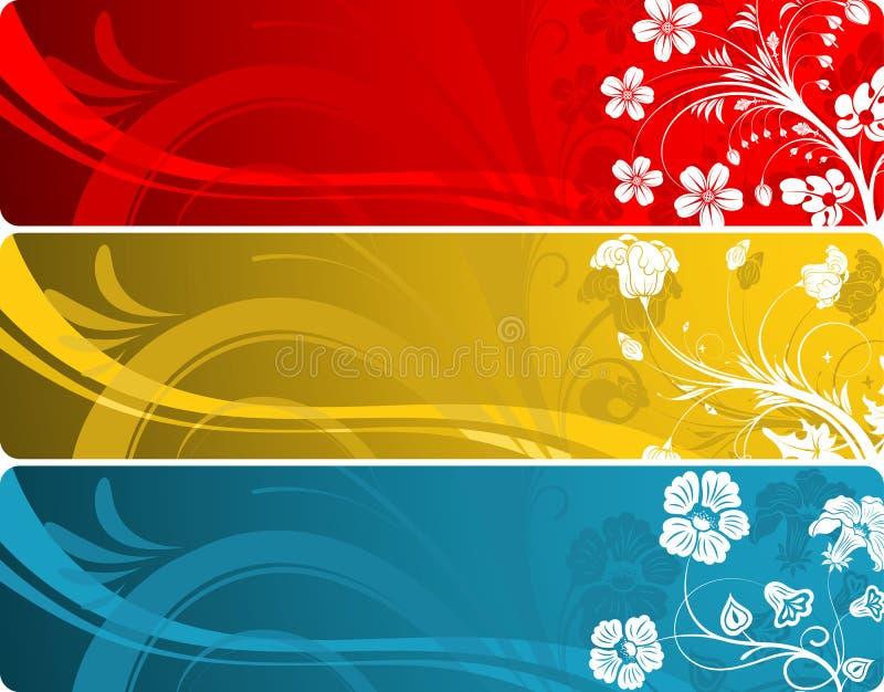花卉横幅 皇族释放例证