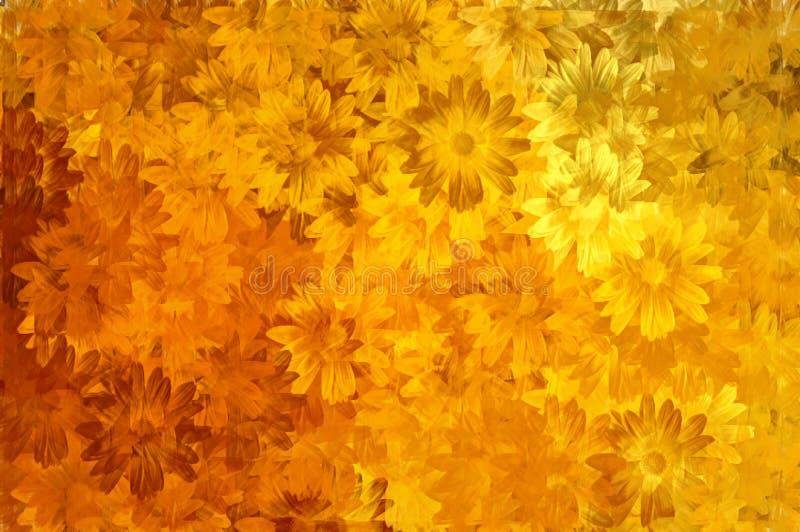 花卉油漆模式 库存例证