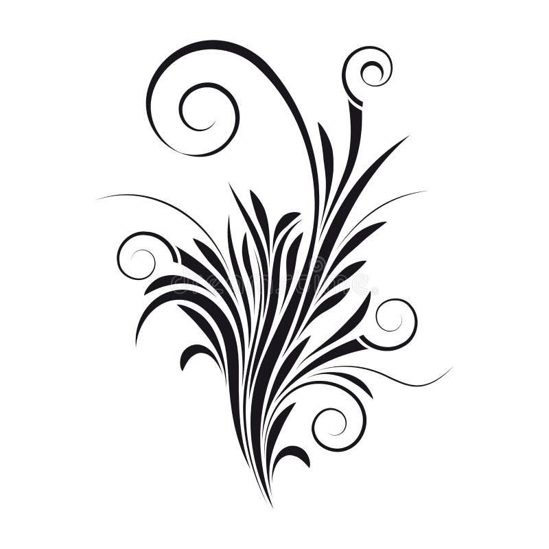 花卉漩涡向量 皇族释放例证