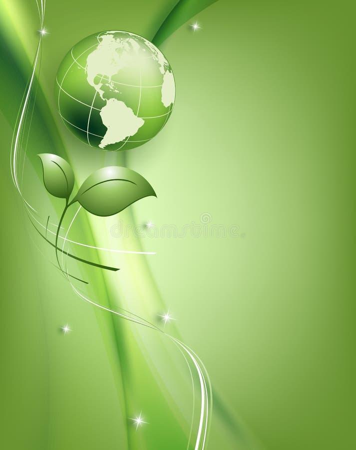 花卉环境传染媒介框架 向量例证